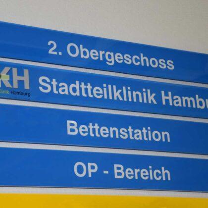 Schild SKH Stadtteilklinik Hamburg